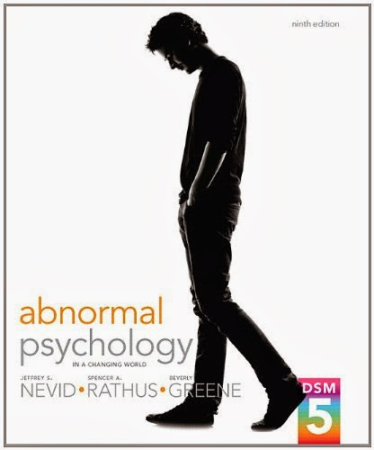 Test Bank Abnormal Psychology Changing World 9th Edition Nevid Rathus Greene