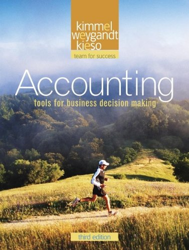 Accounting 3rd Edition By Kimmel, Weygandt, Kieso - Solution Manual