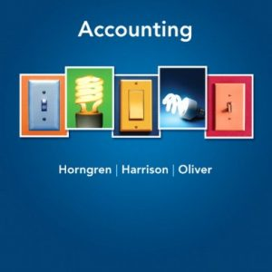 Accounting 9th Edition By Horngren, Harrison, Oliver - Solution Manual