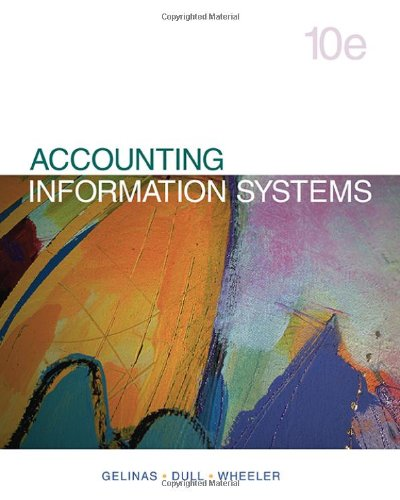 Accounting Information Systems 10th Edition By Gelinas, Dull, Wheeler - Solution Manual