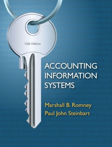 Accounting Information Systems 12th Edition By Romney, Steinbart - Solution Manual