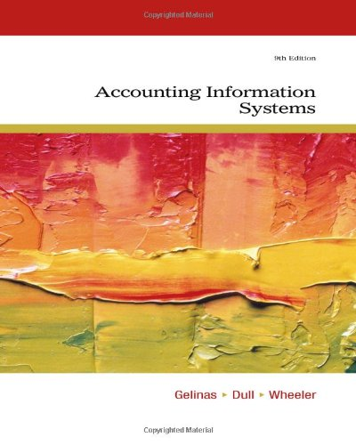 Accounting Information Systems 9th Edition By Gelinas, Dull, Wheeler - Solution Manual