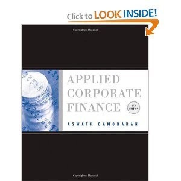 Solution Manual for Applied Corporate Finance 3/E by Damodaran