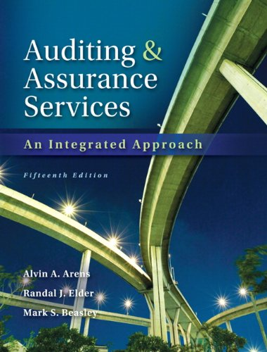 Auditing and Assurance Services 15th Edition By Arens, Elder, Beasley - Solution Manual