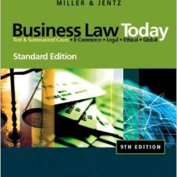 Test Bank for Business Law Today 10/E by Miller