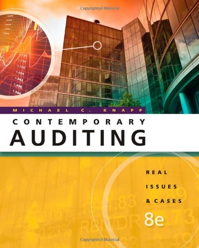 Contemporary Auditing Real Issues and Cases 8th Edition By Knapp - Solution Manual