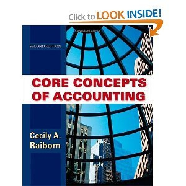 Solution Manual for Core Concepts Of Accounting 2/E by Raiborn