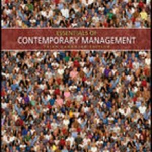 Test Bank for Essentials Of Contemporary Management 3/E Canadian Edition by Jones