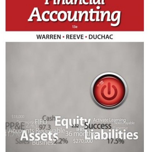 Test Bank for Financial Accounting 13/E by Warren