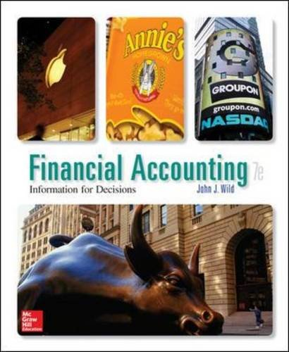Financial Accounting Information for Decisions 7th Edition By Wild - Solution Manual