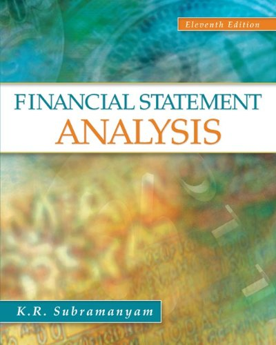 Financial Statement Analysis 11th Edition By Subramanyam - Solution Manual