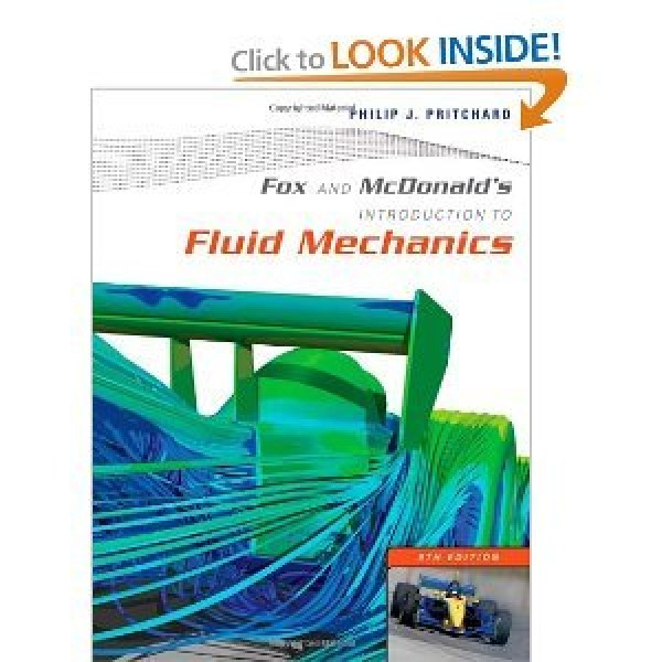 Solution Manual for Fox And Mcdonald'S Introduction To Fluid Mechanics 8/E by Pritchard