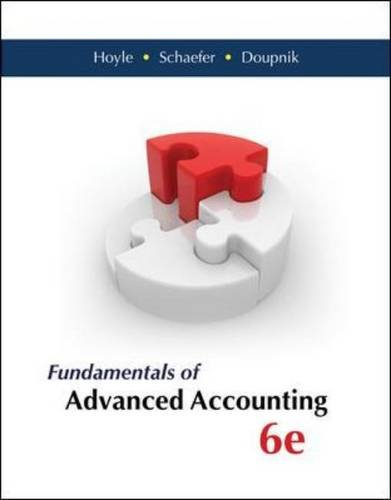 Fundamentals of Advanced Accounting 6th Edition By Hoyle, Schaefer, Doupnik - Test Bank