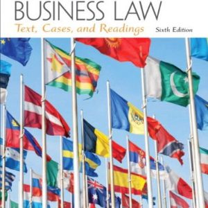 Solution Manual for International Business Law 6/E by August
