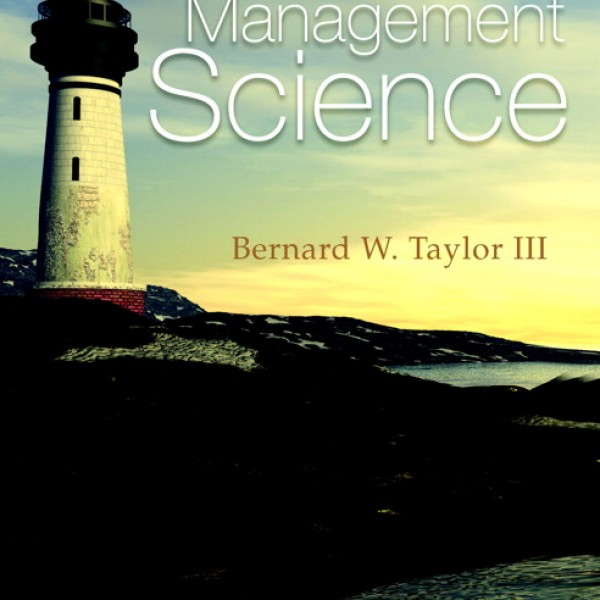 Solution Manual for Introduction To Management Science 11/E by Taylor