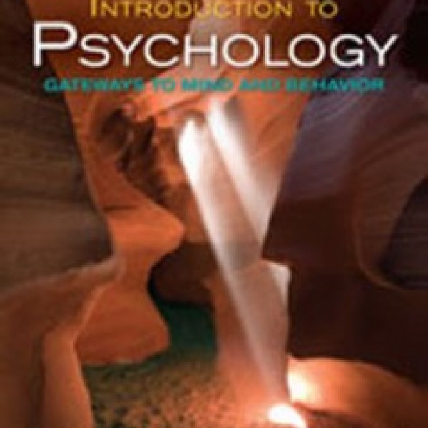 Test Bank for Introduction To Psychology Gateways To Mind And Behavior 12/E by Coon
