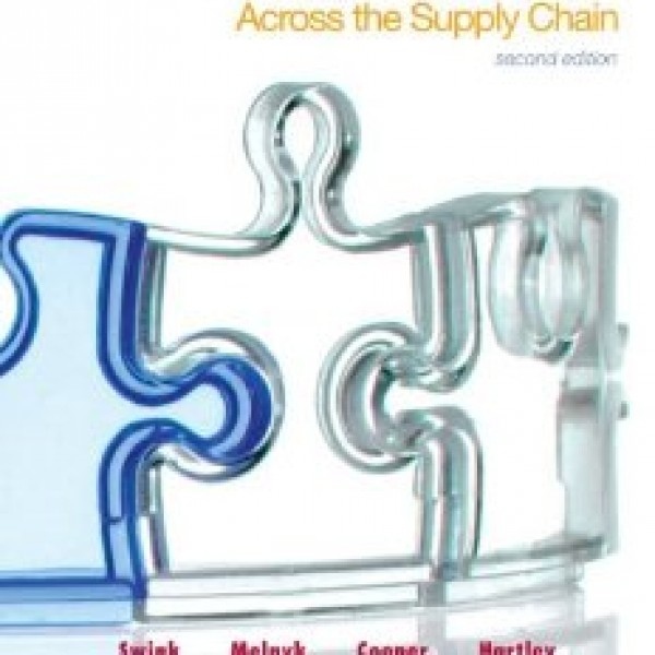 Test Bank for Managing Operations Across The Supply Chain 2/E by Swink