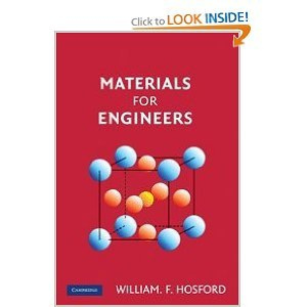 Solution Manual for Materials For Engineers 1/E by Hosford