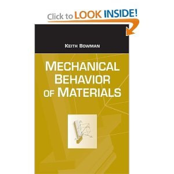 Solution Manual for Mechanical Behavior Of Materials 1/E by Bowman
