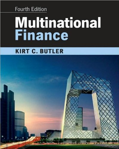 Multinational Finance 4th Edition By Butler - Test Bank