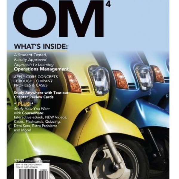 Solution Manual for OM 4/E by Collier