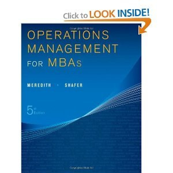 Solution Manual for Operations Management For Mbas 5/E by Meredith