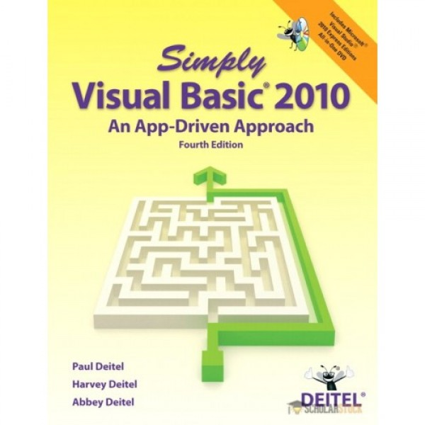 Test Bank for Simply Visual Basic 2010 An App-Driven Approach 4/E by Deitel
