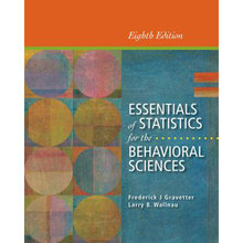 Essentials of Statistics for the Behavioral Sciences Gravetter 8th Edition Test Bank