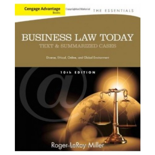 Business Law Today The Essentials, 10th Edition Test Bank – Roger L. Miller