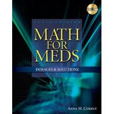 Test Bank 10th Edition Solutions Math for and Curren Meds Dosage
