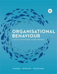 Test Bank for Organisational Behaviour Emerging Knowledge Global Insights, 4th Australian Edition : McShane