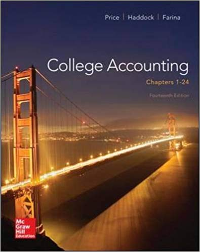 Test Bank for College Accounting (Chapters 1-24) 14th Edition