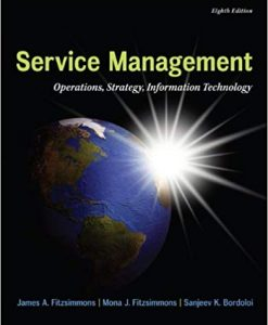 Test Bank for MP Service Management 8th Edition