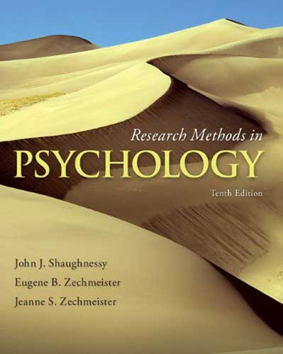 Downloadable Test Bank for Research Methods In Psychology 10th Edition Shaughnessy