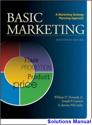 Basic Marketing A Strategic Marketing Planning Approach 19th Edition Perreault Solutions Manual