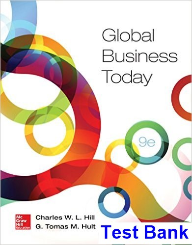 Global Business Today 9th Edition Hill Test Bank