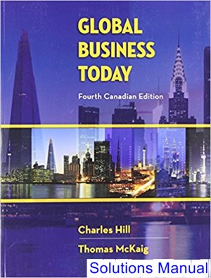 Global Business Today Canadian 4th Edition Hill Solutions Manual