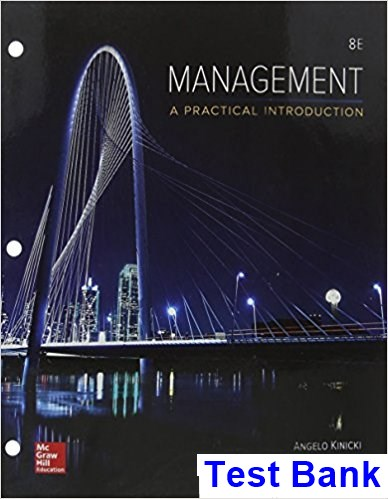 Management 8th Edition Kinicki Test Bank