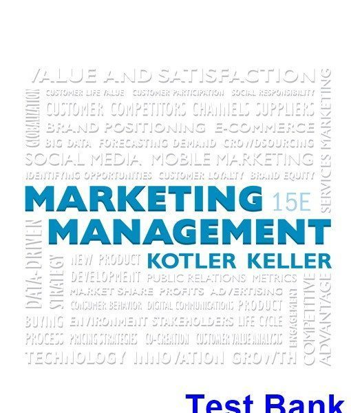 Marketing Management 15th Edition Kotler Test Bank