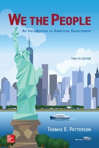 Test Bank for We The People 12th Edition by Patterson
