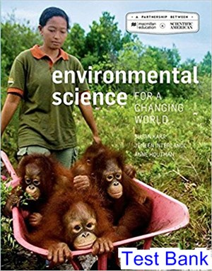 Scientific American Environmental Science for a Changing World 2nd Edition Karr Test Bank