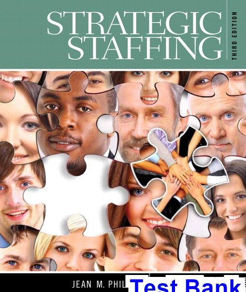 Strategic Staffing 3rd Edition Phillips Test Bank