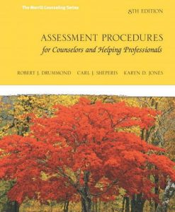 Test Bank For Assessment Procedures for Counselors and Helping Professionals (8th Edition) (Merrill Counselling) 8th Edition