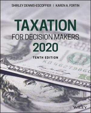 Test Bank for Taxation for Decision Makers, 2020 10th by Dennis-Escoffier