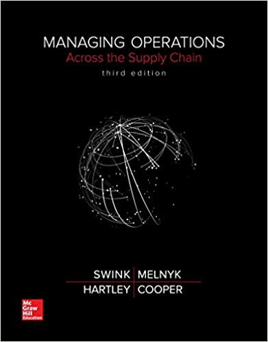 Solution Manual for Managing Operations Across the Supply Chain 3rd Edition