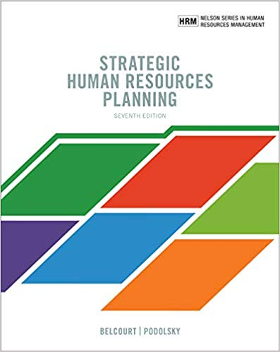 Test Bank for Strategic Human Resources Planning 7th Edition Belcourt