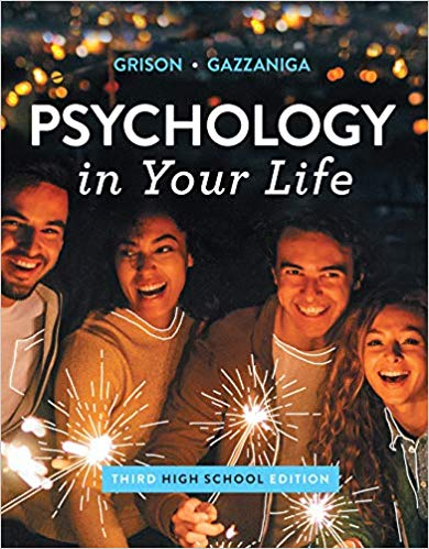 Test Bank for Psychology in Your Life 3rd by Grison