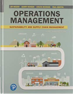 Test Bank for Operations Management Sustainability and Supply Chain Management 3rd Canadian by Heizer