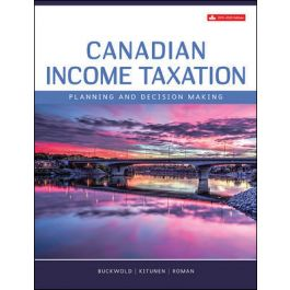 Solution Manual for Canadian Income Taxation 2019-2020, 22th by Buckwold