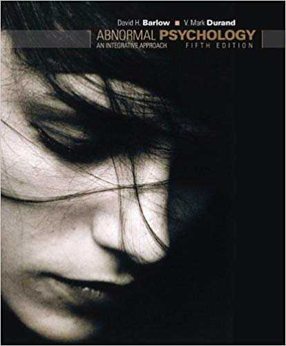 Test Bank for Abnormal Psychology: An Integrative Approach 5th Edition